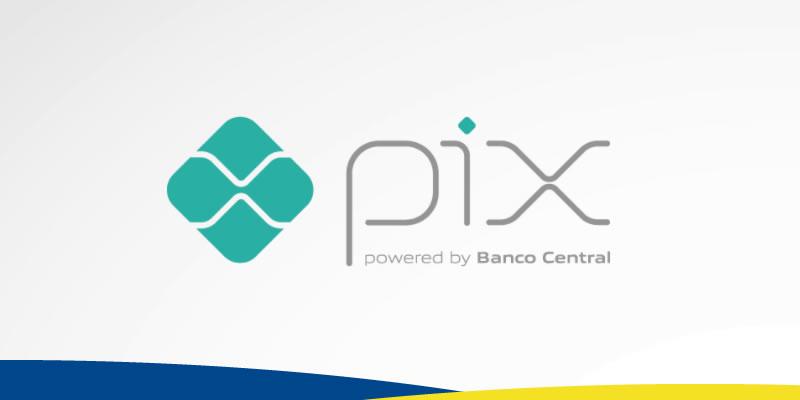 Imagem com logotipo do Pix