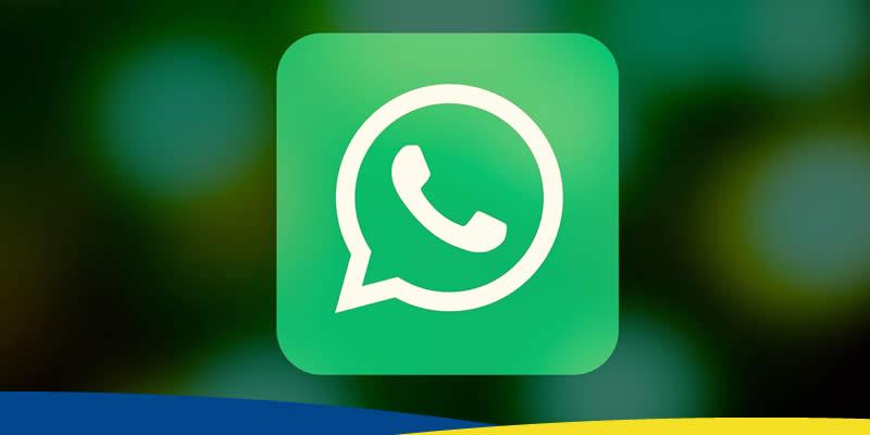 Imagem com logotipo do Whatsapp em destaque